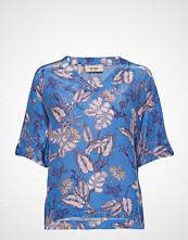 Mos Mosh Palma Vita V-Neck Blouse Bluse Kortermet Multi/mønstret MOS MOSH