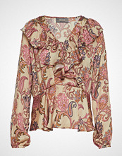 Mos Mosh Alora Weave Blouse Bluse Langermet Multi/mønstret MOS MOSH