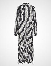 Pulz Jeans Pzsnake L/S Dress Maxikjole Festkjole Multi/mønstret PULZ JEANS