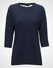 Gant Op2. Bow Back 3/4 Sleeve Top T-shirts & Tops Long-sleeved Blå GANT