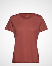 Casall Crossways Textured Tee T-shirts & Tops Short-sleeved Rosa CASALL