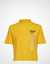 Reebok Classics Cl V P Cropeed Tee T-shirts & Tops Short-sleeved Gul REEBOK CLASSICS