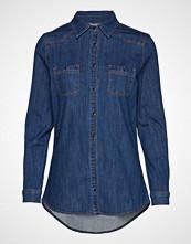 Denim Hunter Dhfortuna Shirt Light Denim Langermet Skjorte Blå DENIM HUNTER