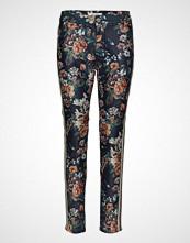Mos Mosh Blake Gold Flower Pant Bukser Med Rette Ben Multi/mønstret MOS MOSH