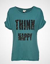 Cream Aggie Tshirt T-shirts & Tops Short-sleeved Grønn Cream