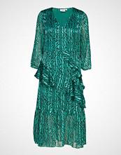 Saint Tropez U6014, Dress Calf Woven Maxikjole Festkjole Grønn SAINT TROPEZ