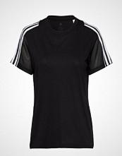 Adidas Performance 3s Mesh Slv T T-shirts & Tops Short-sleeved Svart ADIDAS PERFORMANCE