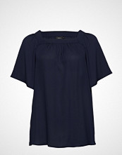 Zizzi Xolia, S/S, Top T-shirts & Tops Short-sleeved Blå ZIZZI