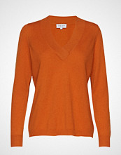 Davida Cashmere V-Neck Over D Sweater Strikket Genser Oransje DAVIDA CASHMERE