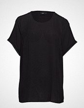 Zizzi Mflame S/S Blouse T-shirts & Tops Short-sleeved Svart ZIZZI