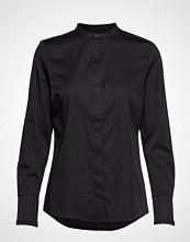 Coster Copenhagen Feminine Fit Shirt W. Plisse Grosgr Langermet Skjorte Svart COSTER COPENHAGEN