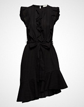 Mayla Stockholm Nicole Embroidery Midi Dress Knelang Kjole Svart MAYLA STOCKHOLM
