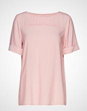 Edc by Esprit Blouses Woven Bluse Kortermet Rosa EDC BY ESPRIT