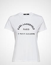Karl Lagerfeld Address Logo T-Shirt T-shirts & Tops Short-sleeved Hvit KARL LAGERFELD