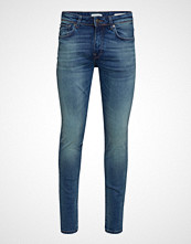 Selected Homme Slhslim-Leon 6163 Mid Blue St Jns W Noos Slim Jeans Blå SELECTED HOMME