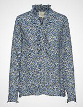 Lollys Laundry Franka Shirt Bluse Langermet Blå LOLLYS LAUNDRY