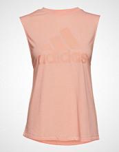 Adidas Performance W Mh Bos Tank T-shirts & Tops Sleeveless Rosa ADIDAS PERFORMANCE