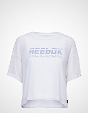 Reebok Performance Wor Myt Mesh Layer Piece T-shirts & Tops Short-sleeved Hvit REEBOK PERFORMANCE