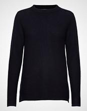 Davida Cashmere Semipolo Slit Sweater Strikket Genser Blå DAVIDA CASHMERE