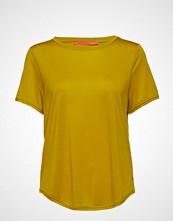 Coster Copenhagen T-Shirt W. Short Sleeve T-shirts & Tops Short-sleeved Gul COSTER COPENHAGEN