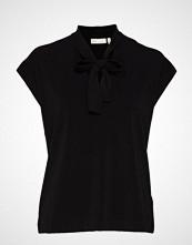 InWear Yamini Tie_neck Top Bluse Kortermet Svart INWEAR