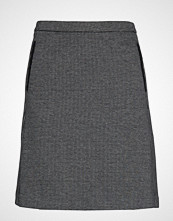 Gant D1. Dogtooth Jersey Skirt Kort Skjørt Grå GANT