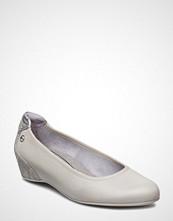 Tamaris Woms Court Shoe Ballerinasko Ballerinaer Hvit TAMARIS
