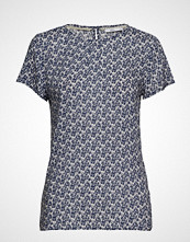 Edc by Esprit Blouses Woven T-shirts & Tops Short-sleeved Blå EDC BY ESPRIT
