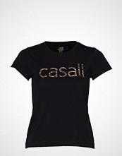 Casall Heritage Logo Tee T-shirts & Tops Short-sleeved Svart CASALL