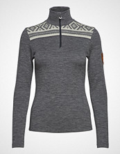 Dale of Norway Cortina Basic Feminine Sweater Høyhalset Pologenser Grå DALE OF NORWAY