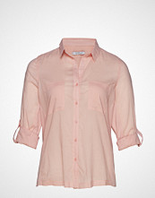 Violeta by Mango Chest-Pocket Cotton Shirt Bluse Langermet Rosa VIOLETA BY MANGO