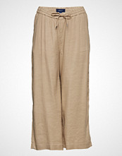 Gant O2. Summer Linen Culotte Vide Bukser Beige GANT