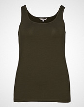 Only Carmakoma Cartime Tank Top Ess T-shirts & Tops Sleeveless Grønn ONLY CARMAKOMA