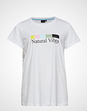Zizzi Mstepahnie, S/S, T-Shirt T-shirts & Tops Short-sleeved Hvit ZIZZI