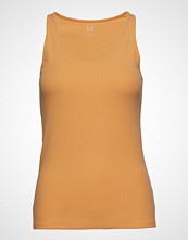 GAP Sl Flat Bk Rib Tk T-shirts & Tops Sleeveless Gul GAP