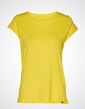 Mads Nørgaard Organic Favorite Teasy T-shirts & Tops Short-sleeved Gul MADS NØRGAARD