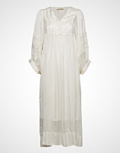 Rabens Saloner Lurex Stripe Ls Long Dress Knelang Kjole Hvit RABENS SAL R