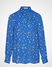 Violeta by Mango Floral Print Shirt Langermet Skjorte Blå VIOLETA BY MANGO