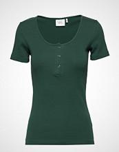 Gestuz Rollagz Button Tee T-shirts & Tops Short-sleeved Grønn GESTUZ