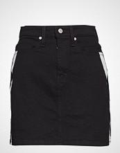 Calvin Klein Hr Mini Skirt Kort Skjørt Svart Calvin Klein Jeans