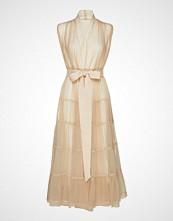 Cathrine Hammel Tiered Tulle Dress Knelang Kjole Creme CATHRINE HAMMEL