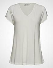 Masai Kallo Top T-shirts & Tops Short-sleeved Creme MASAI