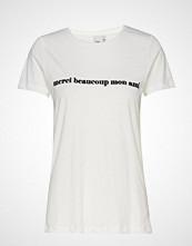 Ichi Ihliberte Ss2 T-shirts & Tops Short-sleeved Hvit ICHI
