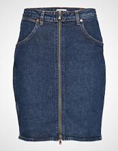 Wrangler High Zip Skirt Kort Skjørt Blå WRANGLER