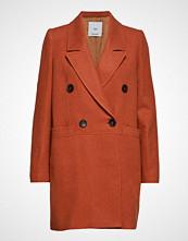 Mango Structured Wool Coat Ullfrakk Frakk Oransje Mango