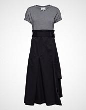 3.1 Phillip Lim Ss Dress W Jersey Tee Knelang Kjole Blå 3.1 PHILLIP LIM