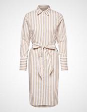 Morris Lady Chiara Striped Shirt Dress Knelang Kjole Creme MORRIS LADY