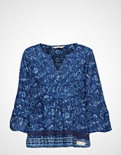 Odd Molly Flowering Spirit Blouse Bluse Langermet Blå ODD MOLLY