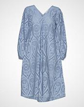 Ganni Broderie Anglaise Dress Kort Kjole Blå GANNI