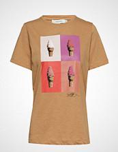 Munthe Holy T-shirts & Tops Short-sleeved Beige MUNTHE